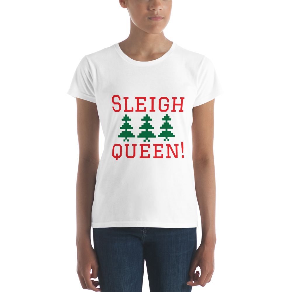 Funny Ladies Christmas Tee Slay Queen