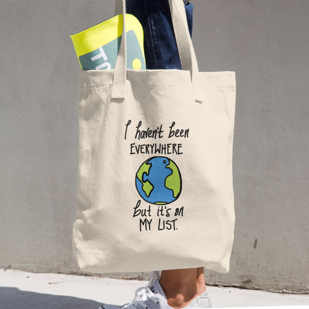 Sontag Quote Travel Globe Wanderer Funny Tote Bag