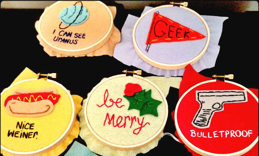 Hand Embroidered Hoop Art Wall Decor