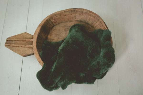 Forest Green Rabbit Furs