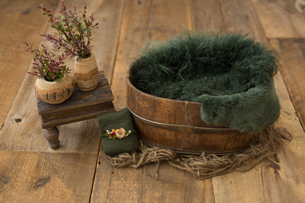 Green Oval Bucket Set