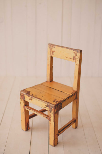 Yellow Vintage Little Wood chairs