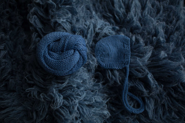 Blue Jeans Knit Set  (Matches Blue Jeans flokati)