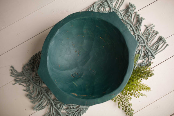EMERALD CHUBBY Deep Hand carved bowl