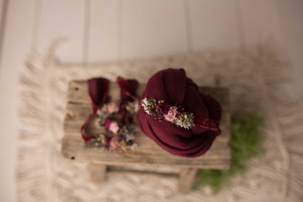 Samantha - Headband, Wrap & Backdrop (Matches Concerto Flokati)