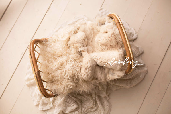 Beige Sheepskin & Rabbit Fur