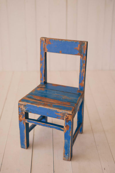 Blue Vintage Little Wood chairs
