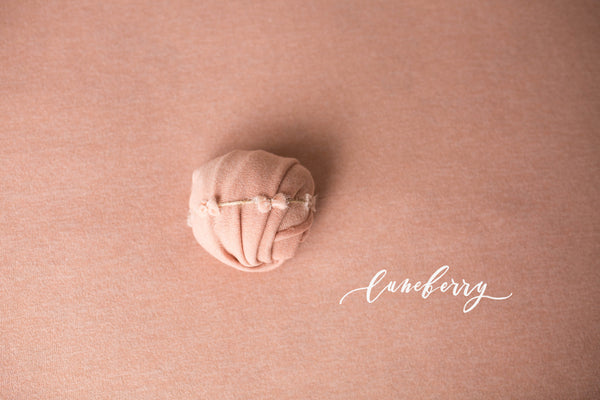 Soft Blush Knit backdrop & headbands