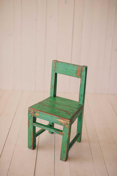 Green Vintage Little Wood chairs
