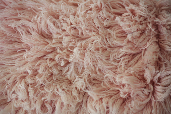 LIGHT BLUSH Premium Wool Flokati