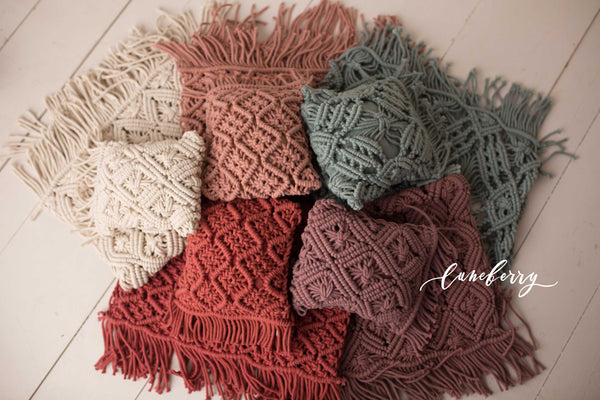 Macrame Bundle - matching mats and pillows