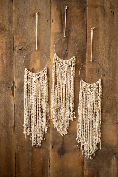 Macrame Wall Hangings 3 Piece Loops
