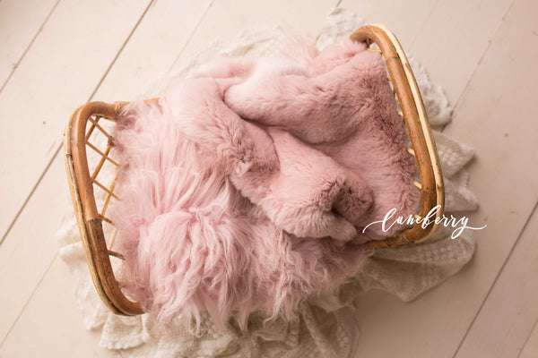 Rose All Day Sheepskin & Rabbit Fur
