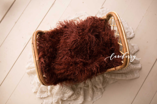 Sangria Sheepskin & Rabbit Fur