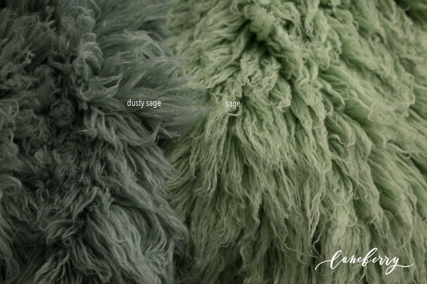 DUSTY SAGE Premium Wool Flokati