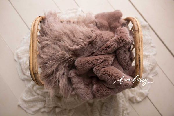 Amethyst Sheepskin & Rabbit Fur