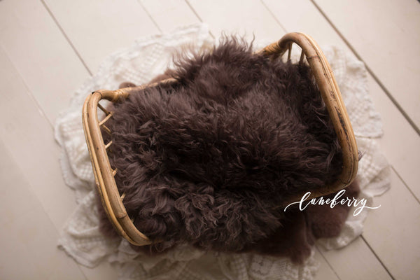 Chocolate Sheepskin & Rabbit Fur