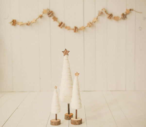 Gold Star birch garland