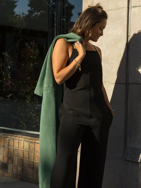 Cropped Strapped Jumpsuit