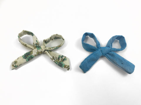 Rosie Bows - Vintage Floral and Chambray