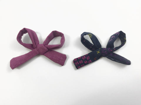 Rosie Bows - Midnight and Plum