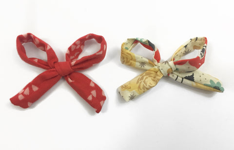 Rosie Bows - Confetti Red and Floral
