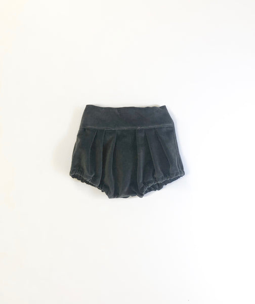 Gray Blue Velvet Clara Bloomers