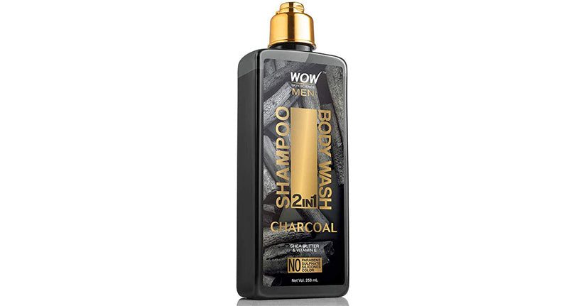 WOW Skin Science Charcoal 2-In-1 Shampoo + Body Wash