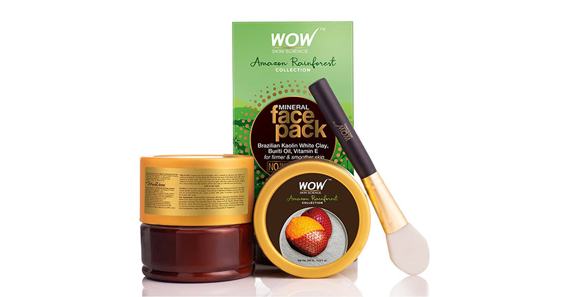 WOW Mineral Face Pack with Rainforest White Clay