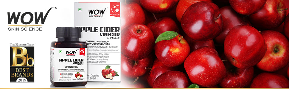 WOW Life Science Apple Cider Vinegar Supplement