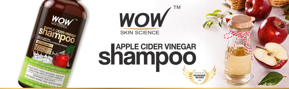 WOW Skin Science Apple Cider Vinegar Shampoo, 300ml