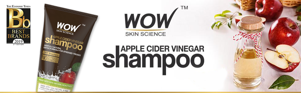 WOW Skin Science Apple Cider Vinegar Shampoo, 200ml