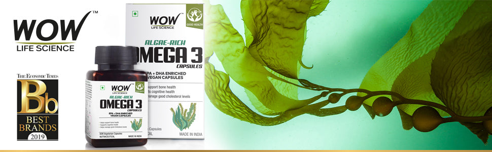 WOW Life Science Algae-Rich Omega 3 Capsules