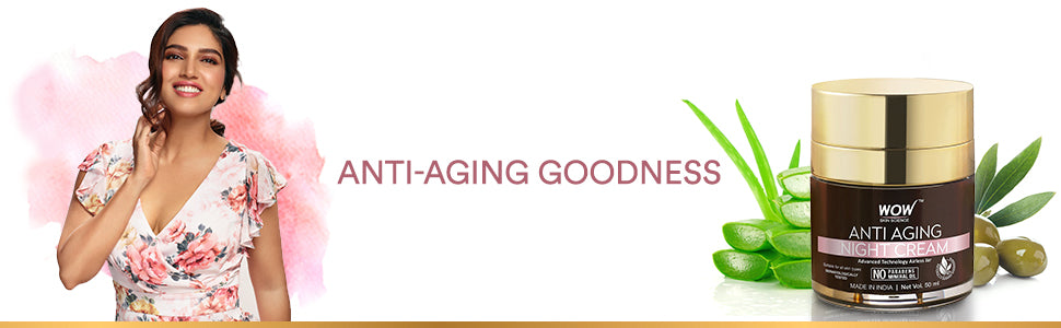 WOW Skin Science Anti Aging Daily Night Cream banner image