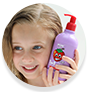 WOW Skin Science Kids Strawberry 3 in 1 Tip to Toe Wash - Shampoo + Conditioner + Bodywash for Cleaner Hair