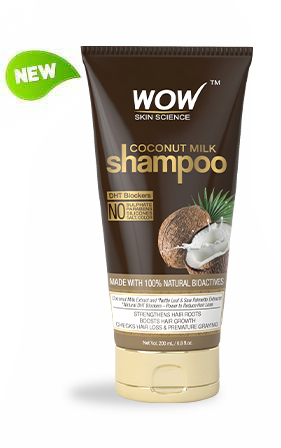 WOW Coconut Milk Shampoo, 200ml