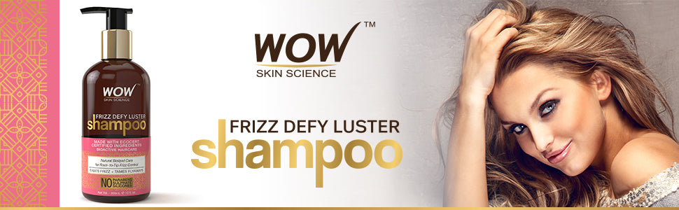 WOW Skin Science Frizz Defy Luster Shampoo banner image
