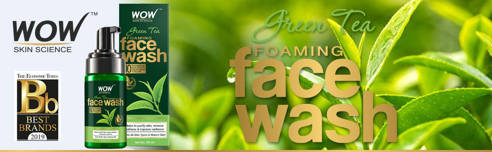 WOW Skin Science Green Tea Foaming Face Wash