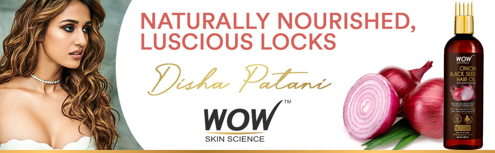 WOW Skin Science Onion Black         Seed Hair Oil With Comb Applicator