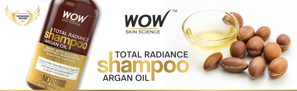 WOW Skin Science Total Radiance Argan Oil Shampoo banner image