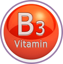 Vitamins B3, B5 and E for strengthen skin
