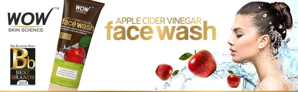 WOW Skin Science Apple Cider Vinegar Face                 Wash – 100 mL - TUBE