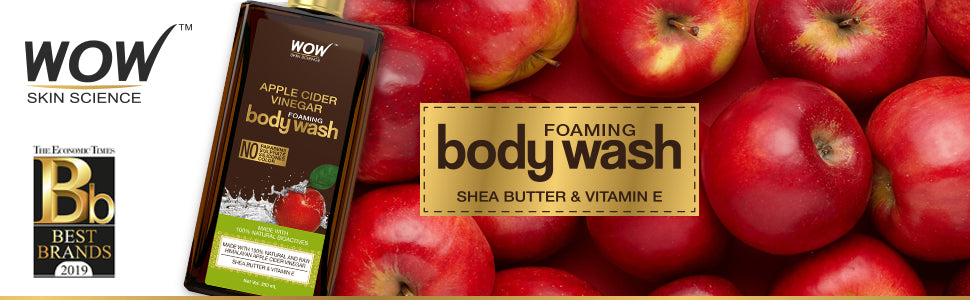 WOW Skin Science Apple Cider Vinegar Foaming Body Wash