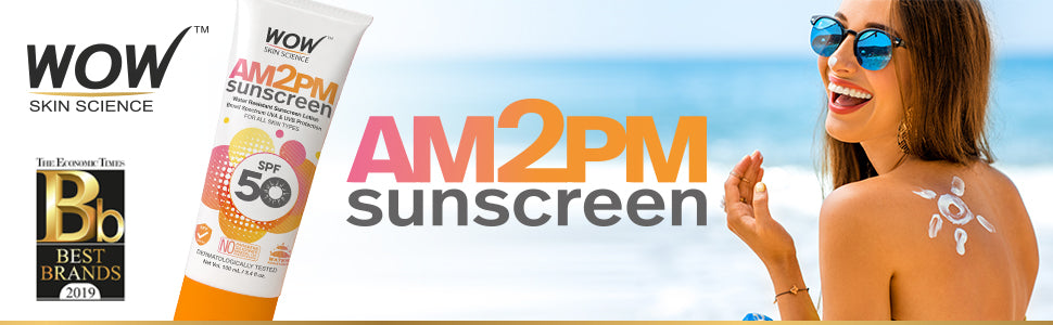 WOW Skin Science AM2PM Sunscreen SPF50