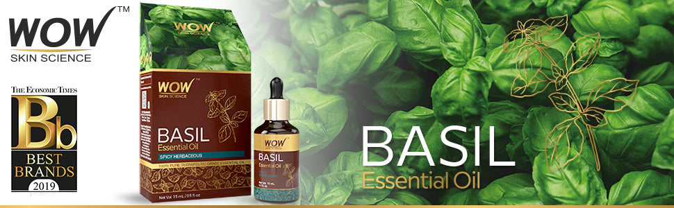 WOW Skin Science Basil Essential Oil