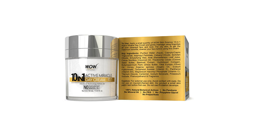 WOW Skin Science 10 in 1 Active Miracle Day Cream SPF-15 PA