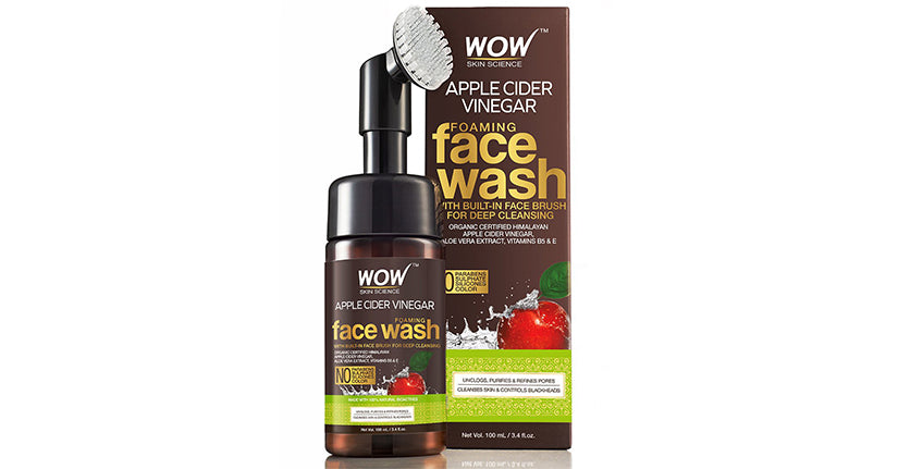 acv face wash with brush