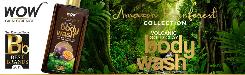 WOW Skin Science Amazon Rainforest Volcanic Gold Clay Body Wash