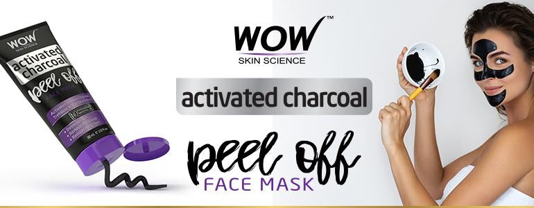 WOW Skin Science Activated Charcoal Face Pack Banner