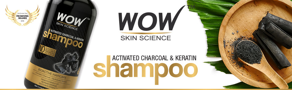 WOW Skin Science Charcoal & Keratin Shampoo banner image